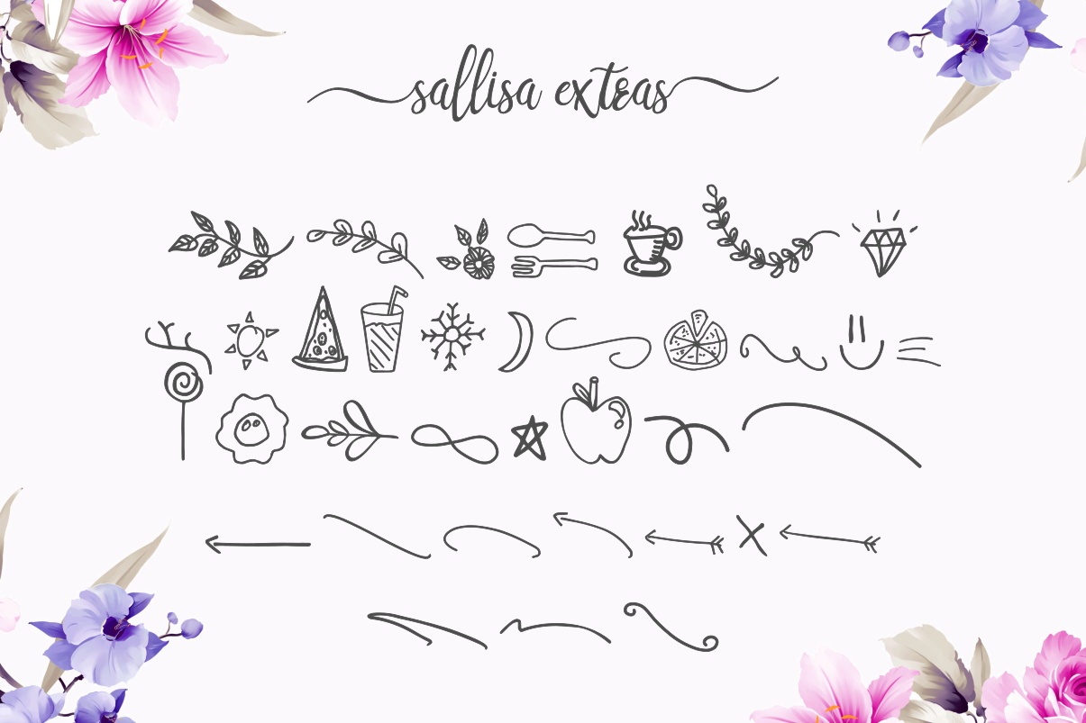Sallisa - beautiful script font example image 11