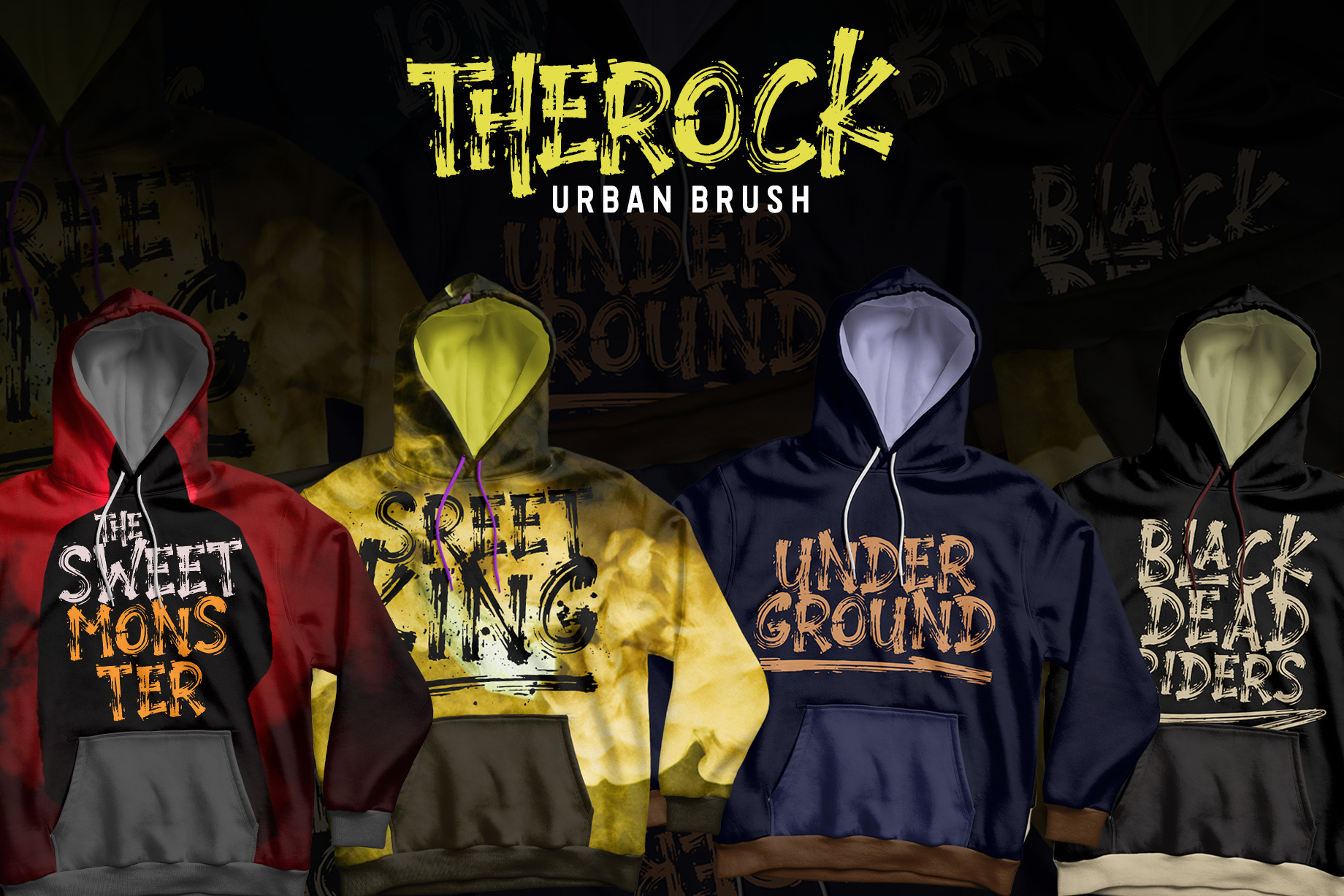 THEROCK - URBAN BRUSH FONT example image 8