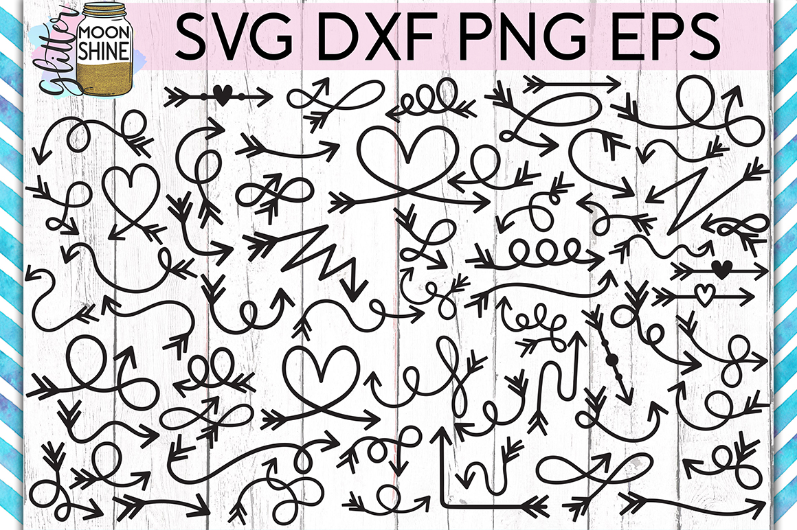 Arrow Bundle of 60 SVG DXF PNG EPS Cutting Files example image 2