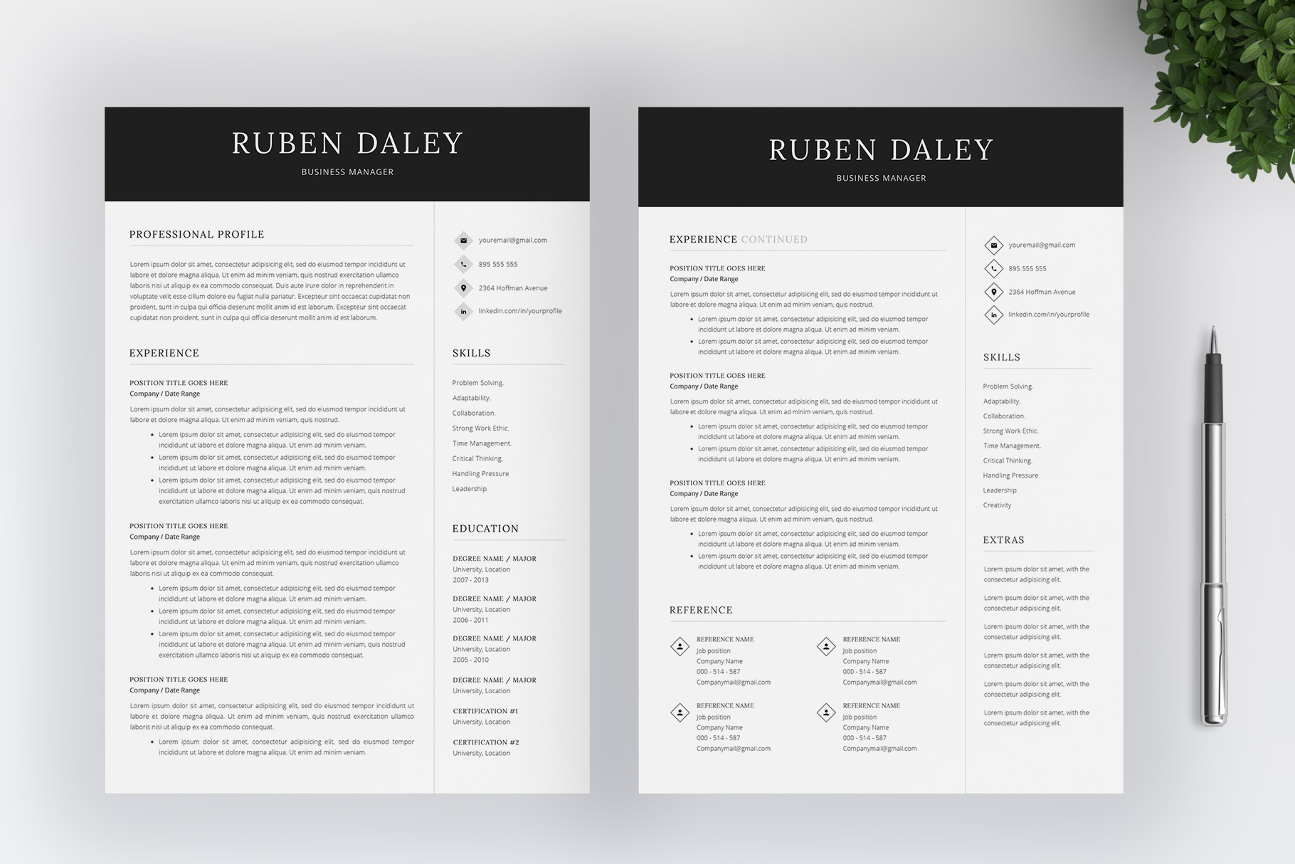 Resume Template and Cover Letter example image 3