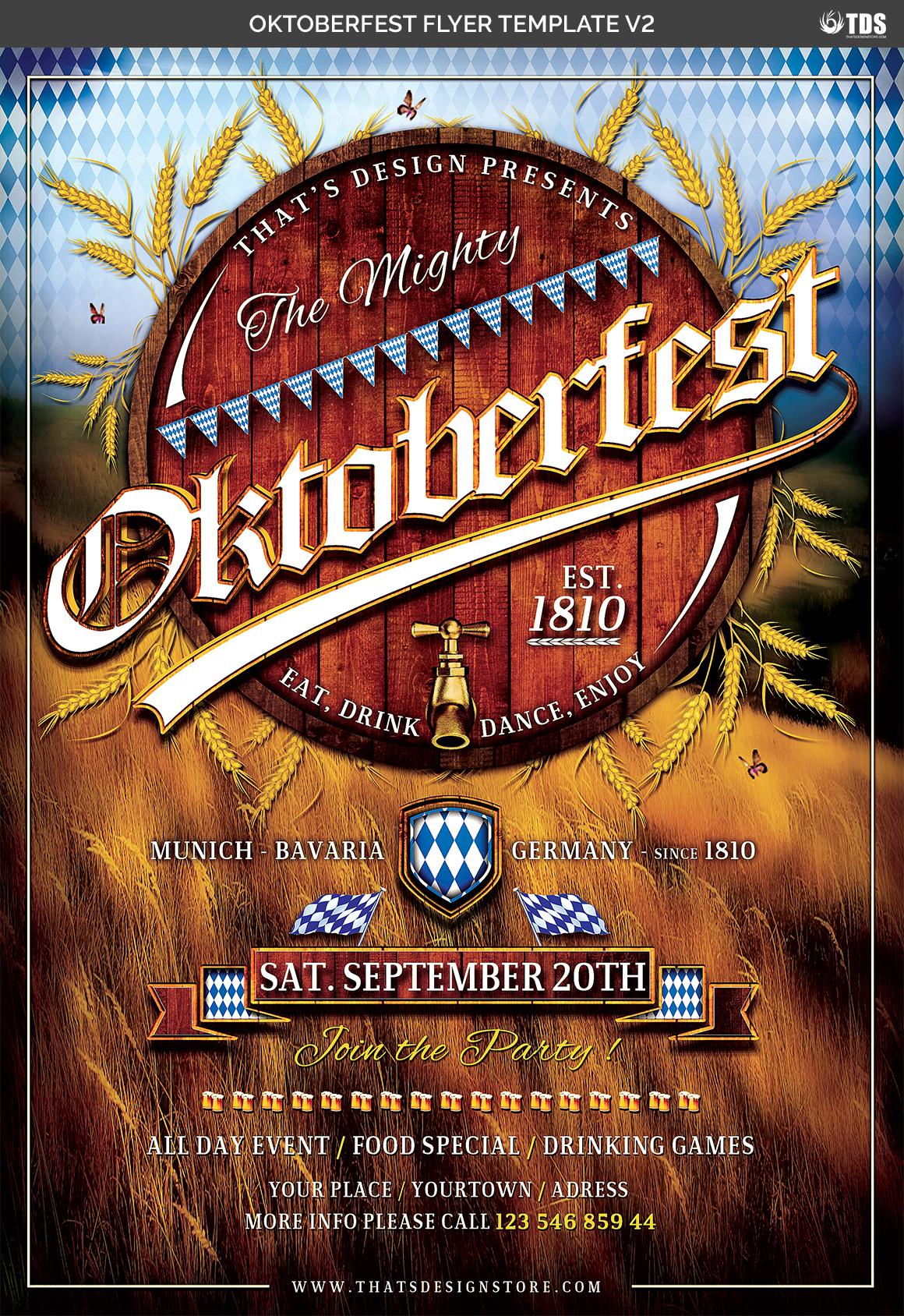 Oktoberfest Flyer Template V2 example image 8