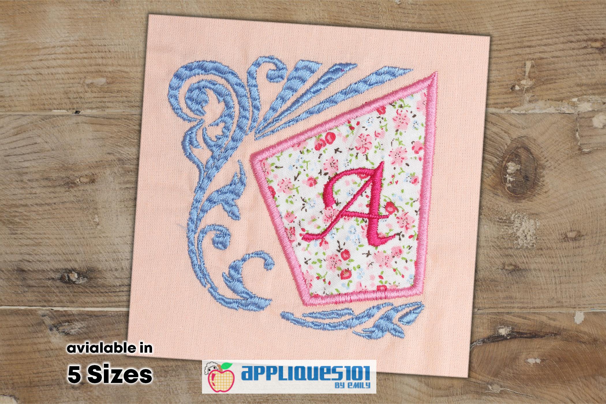 Alphabet Frame Machine Embroidery Applique Design- Alphabets example image 1