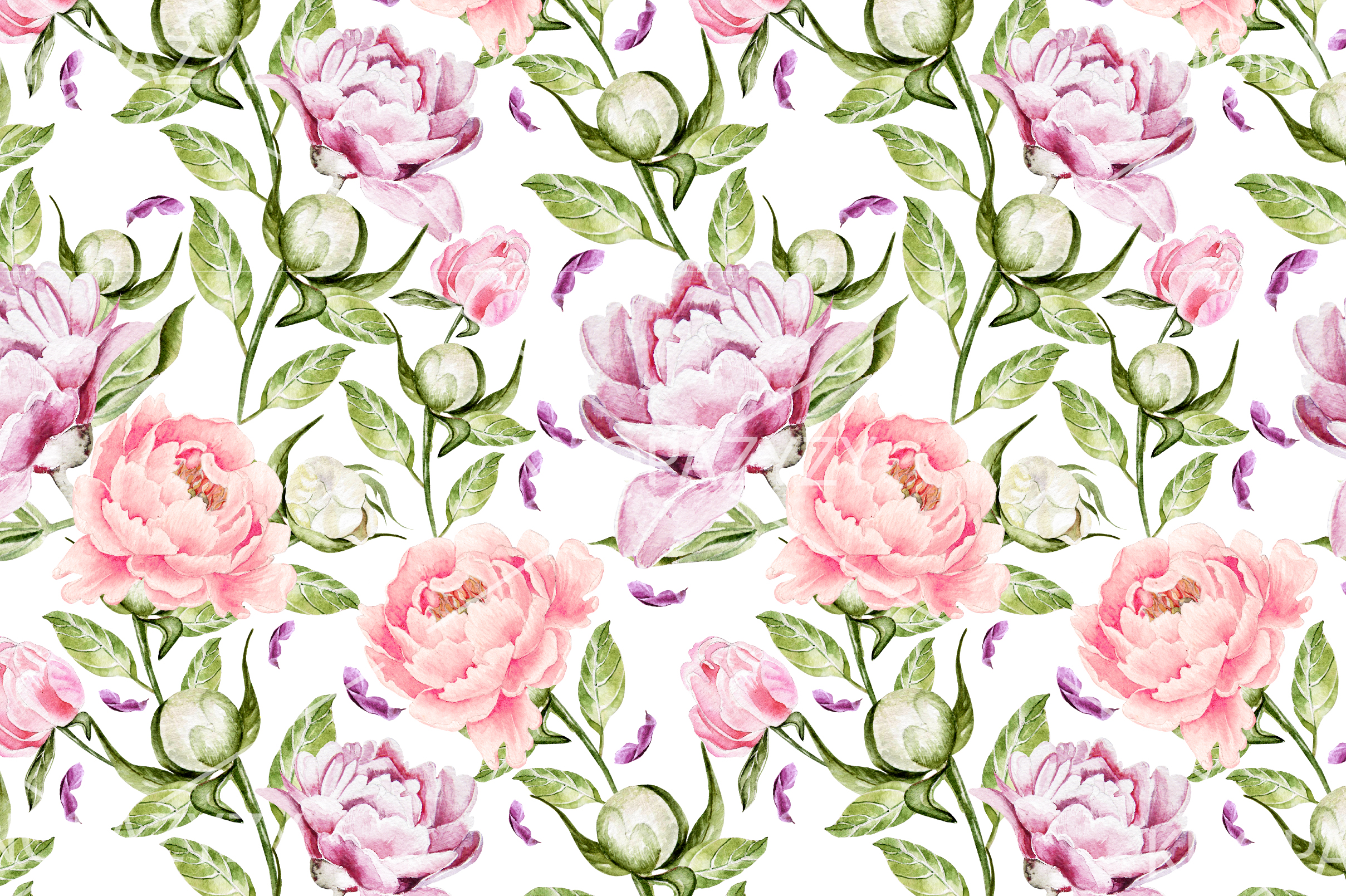 10 Hand Drawn Watercolor Pattern example image 8