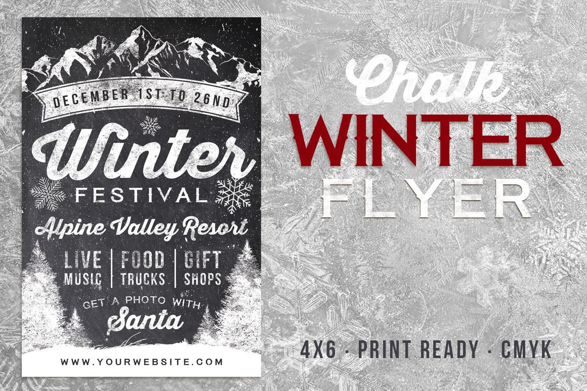 Chalk Winter Festival Flyer example image 1
