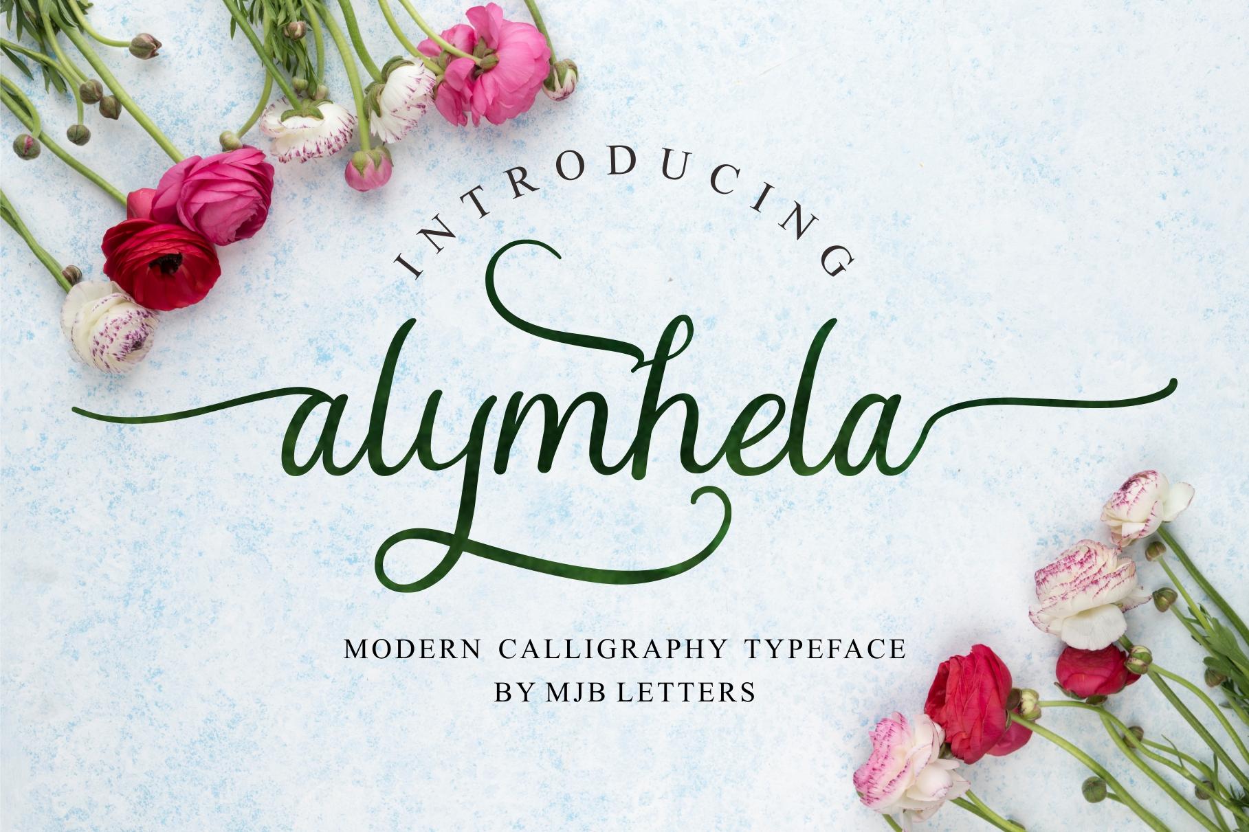 Alymhela Beautiful Script example image 7