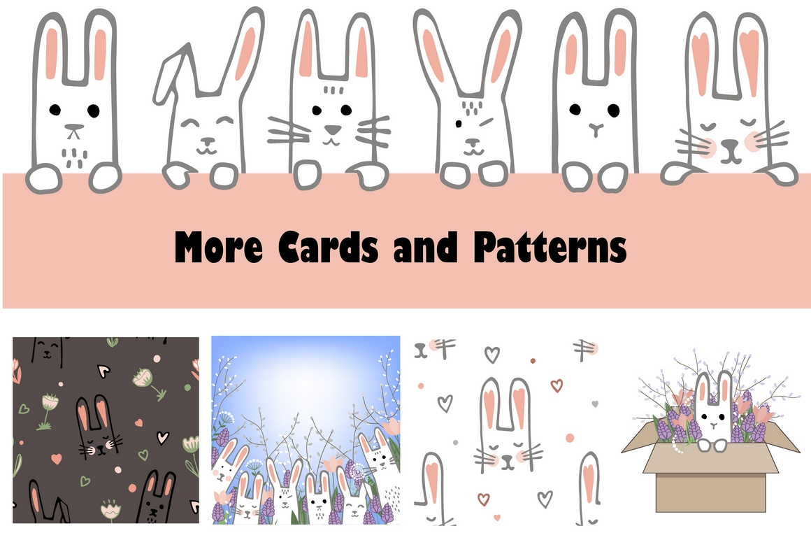 Vector Bunny Collection example image 3