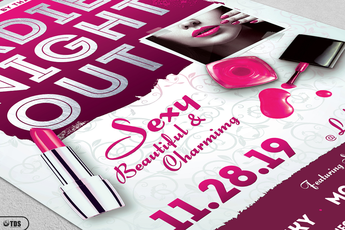 Girls Night Out Flyer Template example image 6