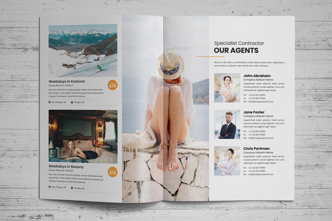 Holiday Travel Brochure Design v5 example image 5