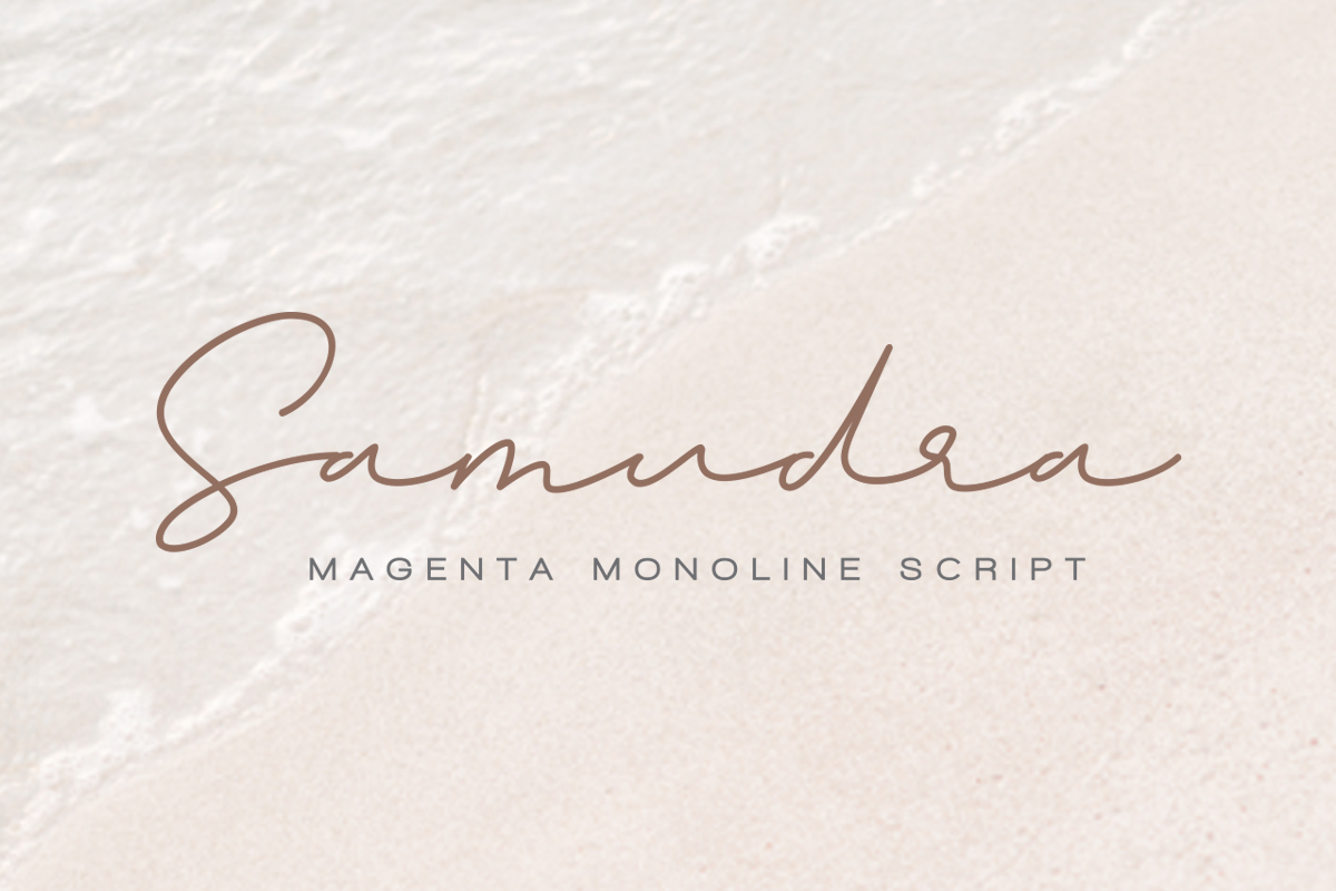 Magenta - 3 Luxury Signature Font example image 9