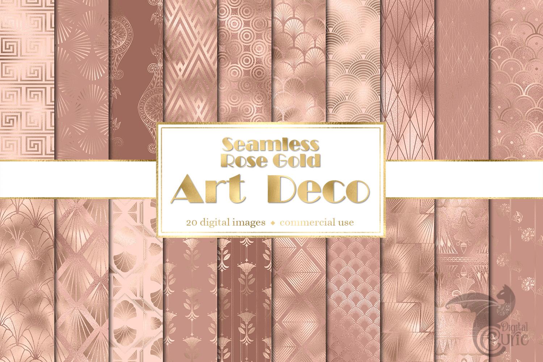 Rose Gold Art Deco Digital Paper example image 1