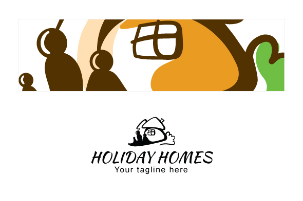 Holiday Homes - Illustrative Stock Logo Template example image 3