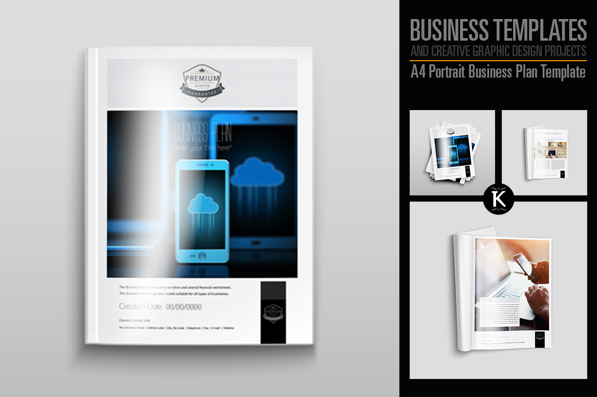 A4 Portrait Business Plan Template example image 1