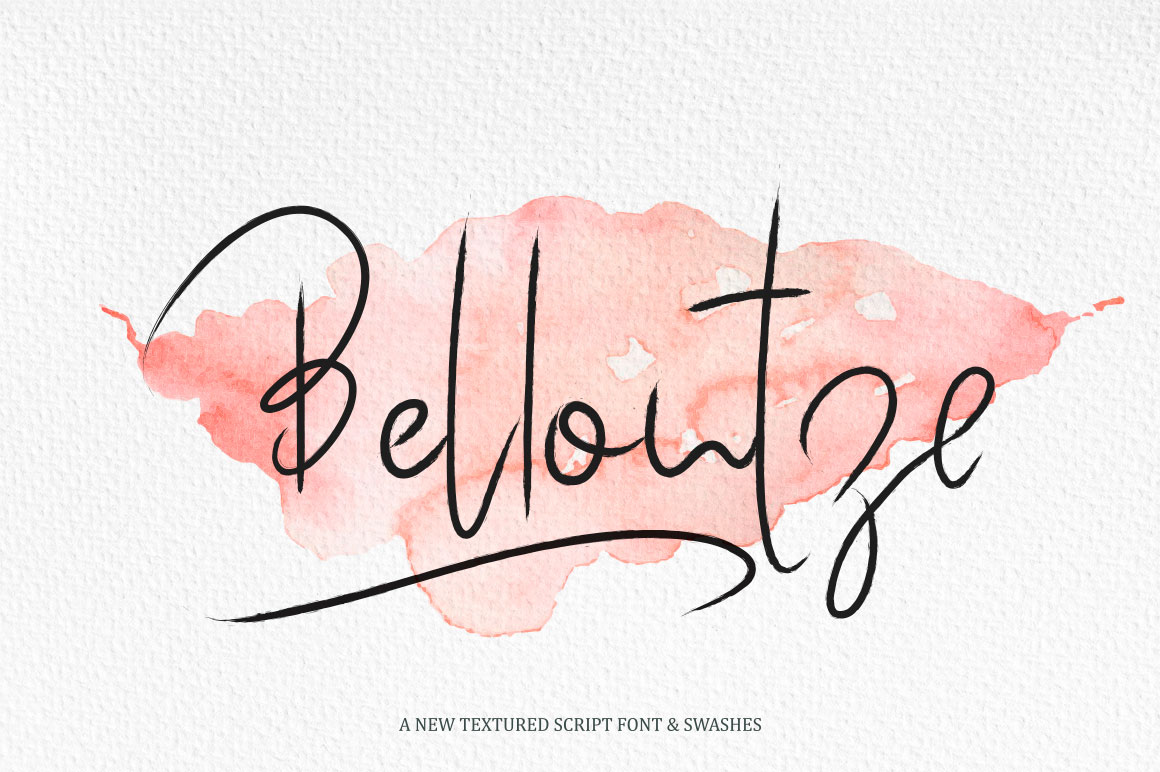 Bellontze.Textured script & swashes example image 1