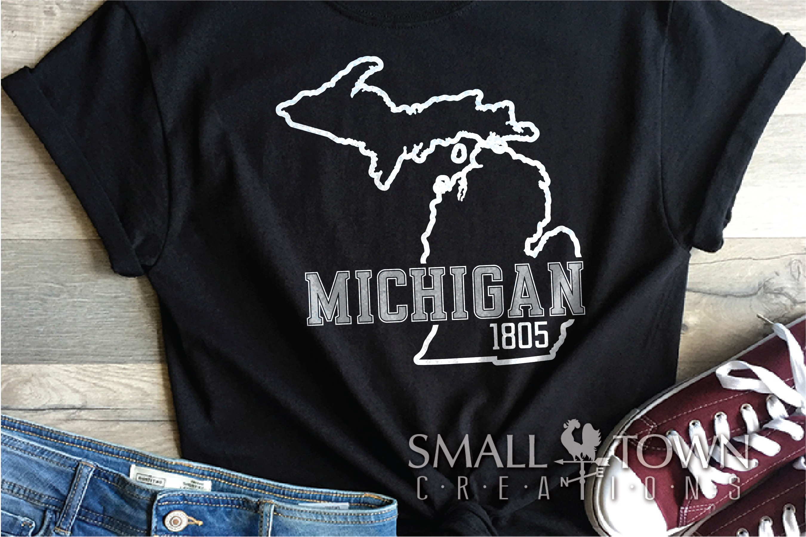 Michigan, Great Lake States - slogan, PRINT, CUT & DESIGN example image 8