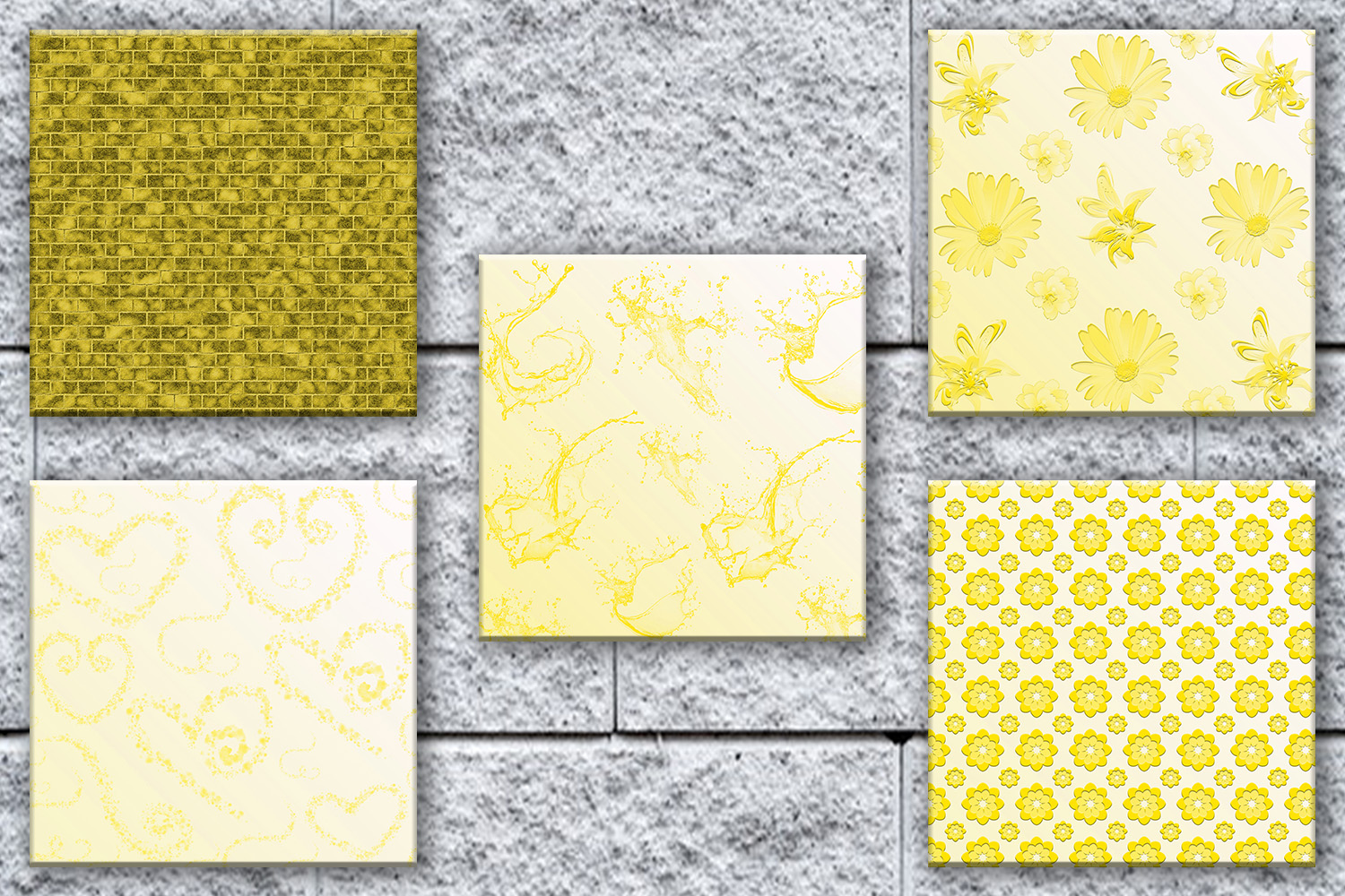 Yellow Paper, Yellow Digital Paper,Yellow Digital, SALE example image 3