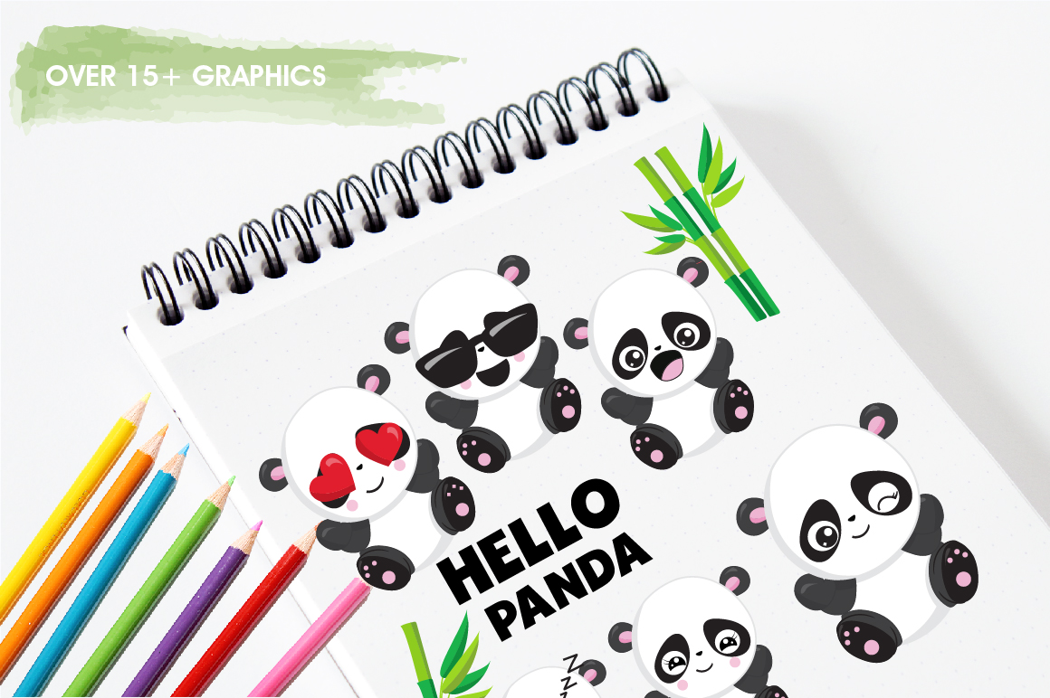 Panda friends graphics and illustrations example image 3