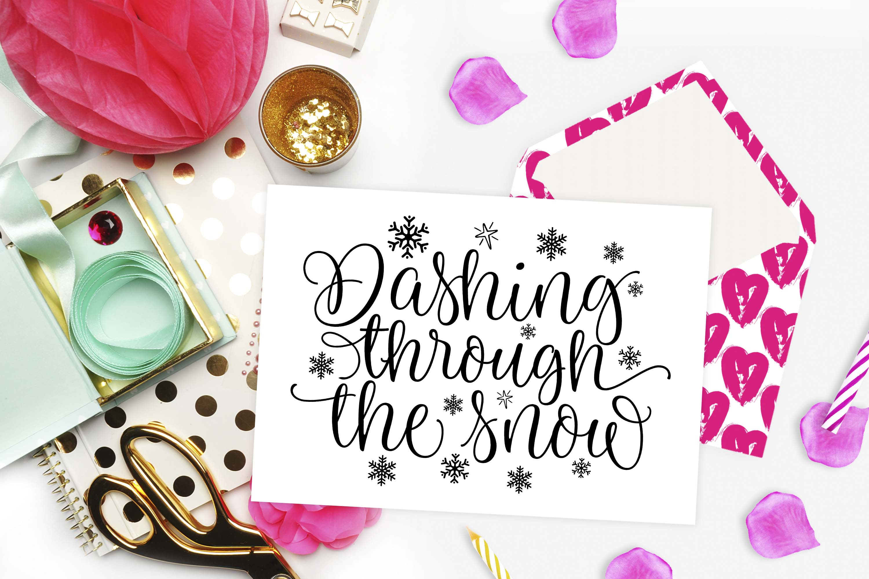 Dashing through the snow SVG DXF PNG example image 2