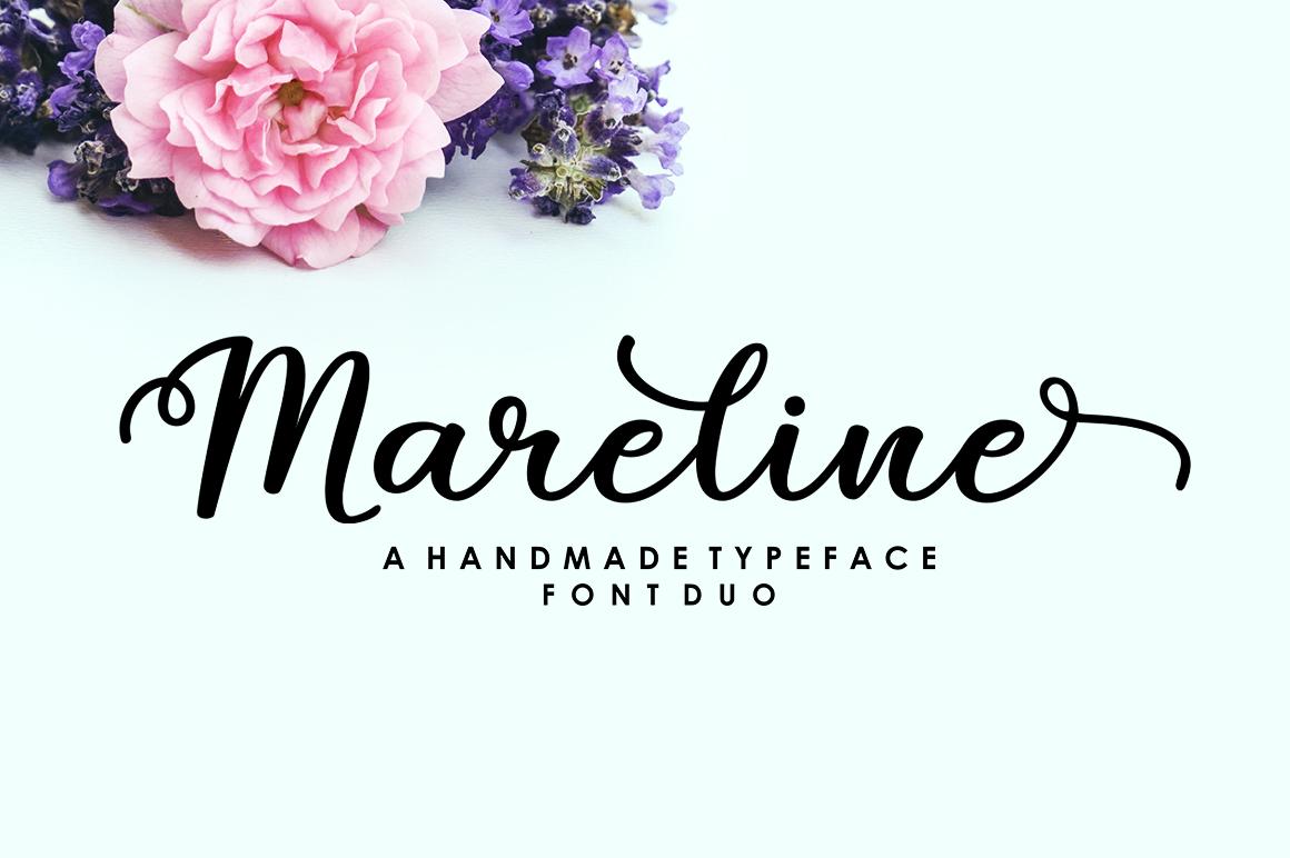 Mareline Script Font Duo example image 10
