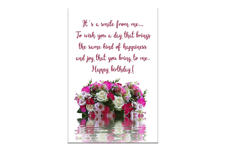 flowers birthday card happy birthday flowers card off