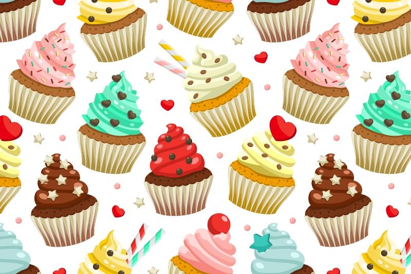 Cupcakes set & patterns example image 3