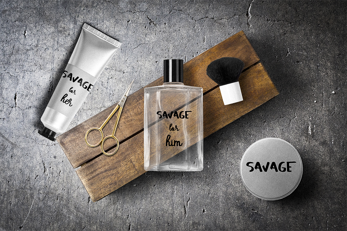 SAVAGE duo script font example image 6