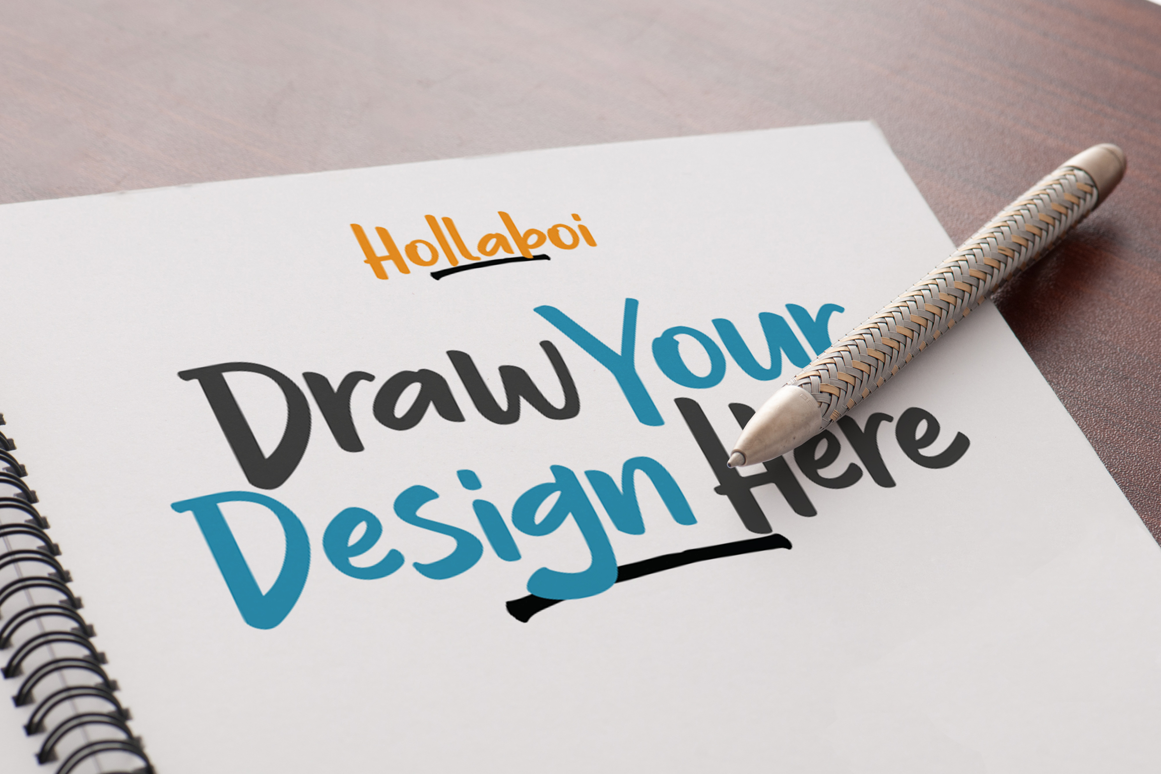 Hollaboi - A Hand-Drawn Brush Font example image 5