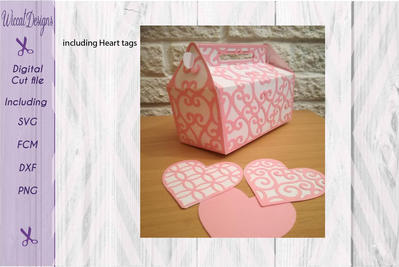 Valentine gift box, Gift box svg, template box svg,  example image 2