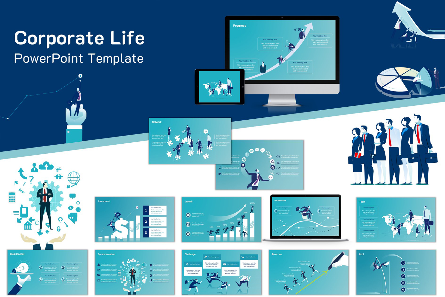 Corporate Life PowerPoint Template example image 1