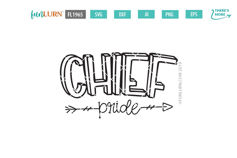 Chief Pride Team SVG Cut File example image 2