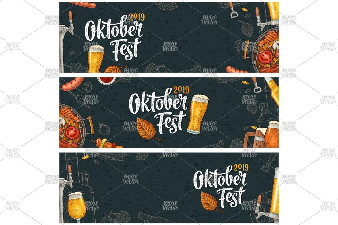 Horizontal posters to oktoberfest 2019 festival engraving example image 3
