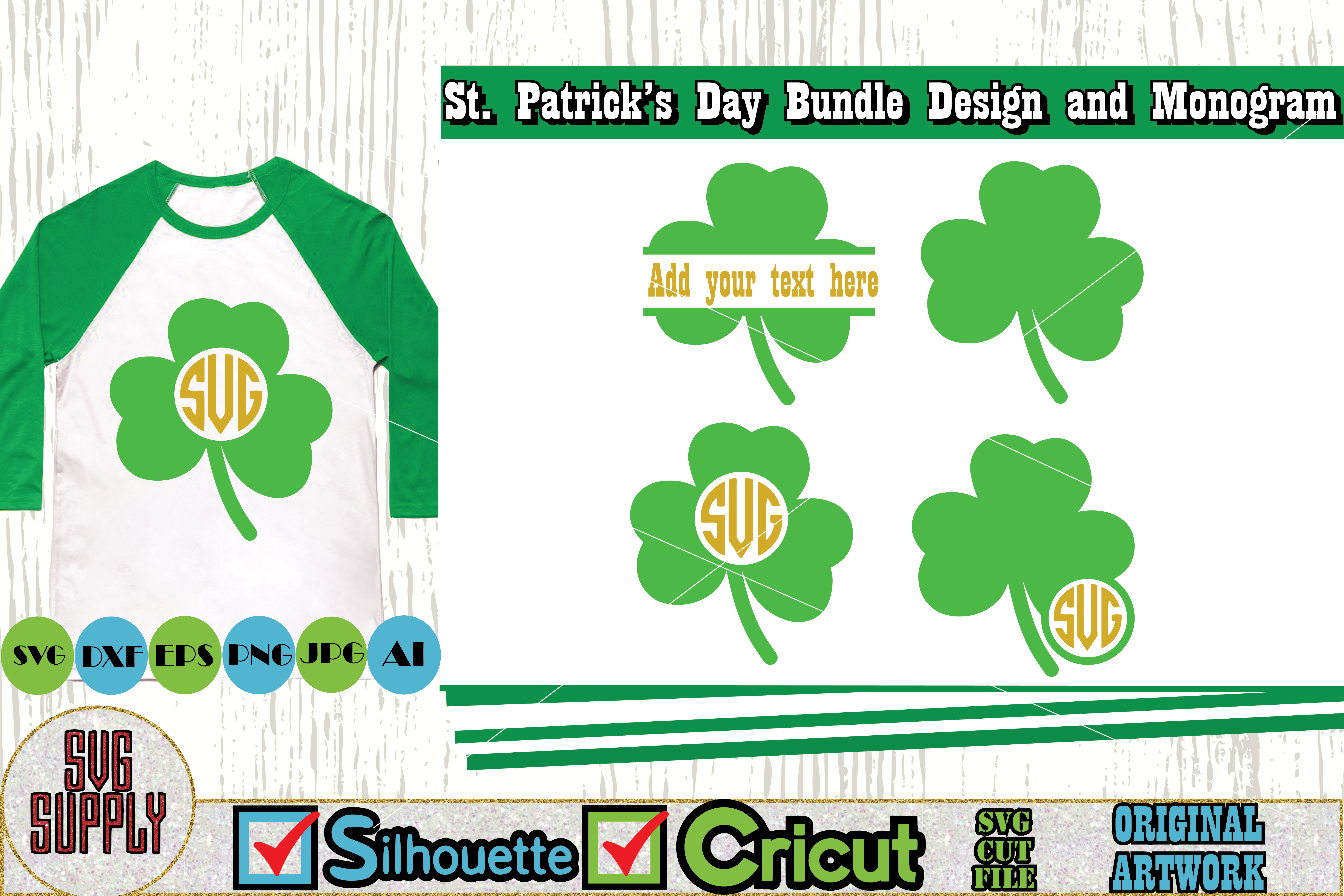 St. Patrick's Day SVG Cut File Set example image 2