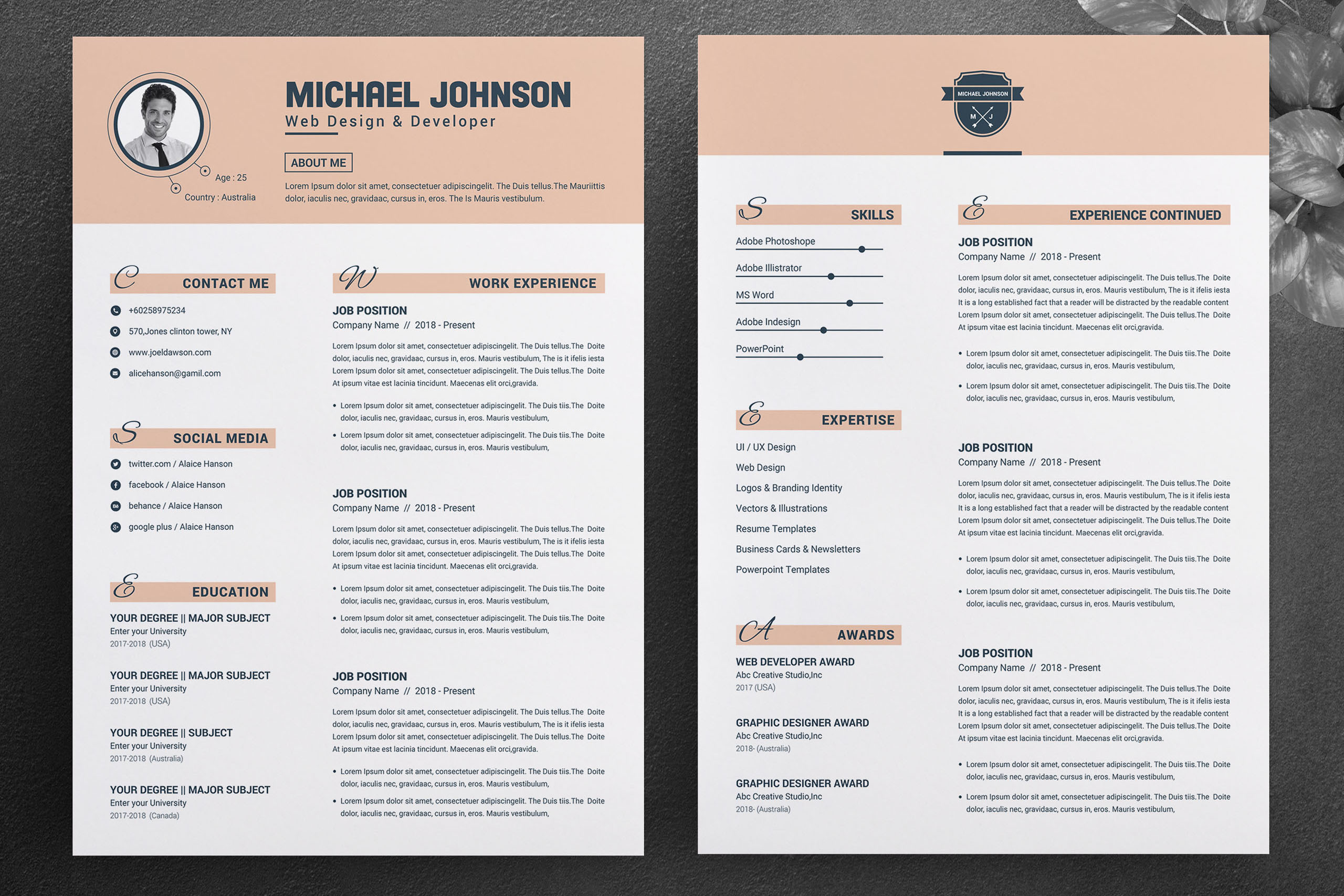 Resume Template for Word & Pages example image 2