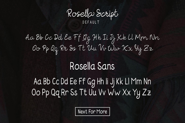 Rosella Script & Sans (Font Duo) example image 7