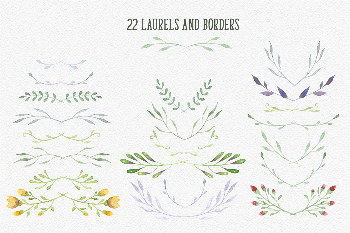 Watercolor floral design resources example image 4
