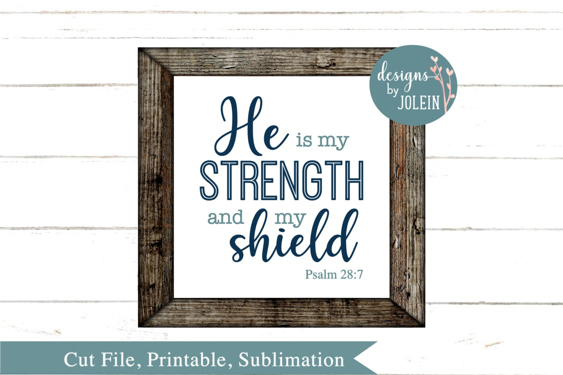 He is my strength SVG, png, eps, sublimation, printable example image 3