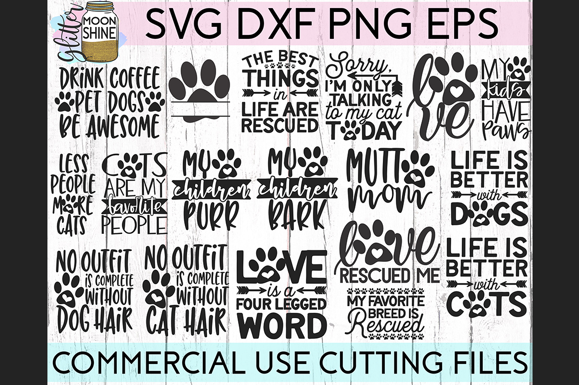 Giant Pet Mom Bundle of 68 SVG DXF PNG EPS Cutting Files example image 3