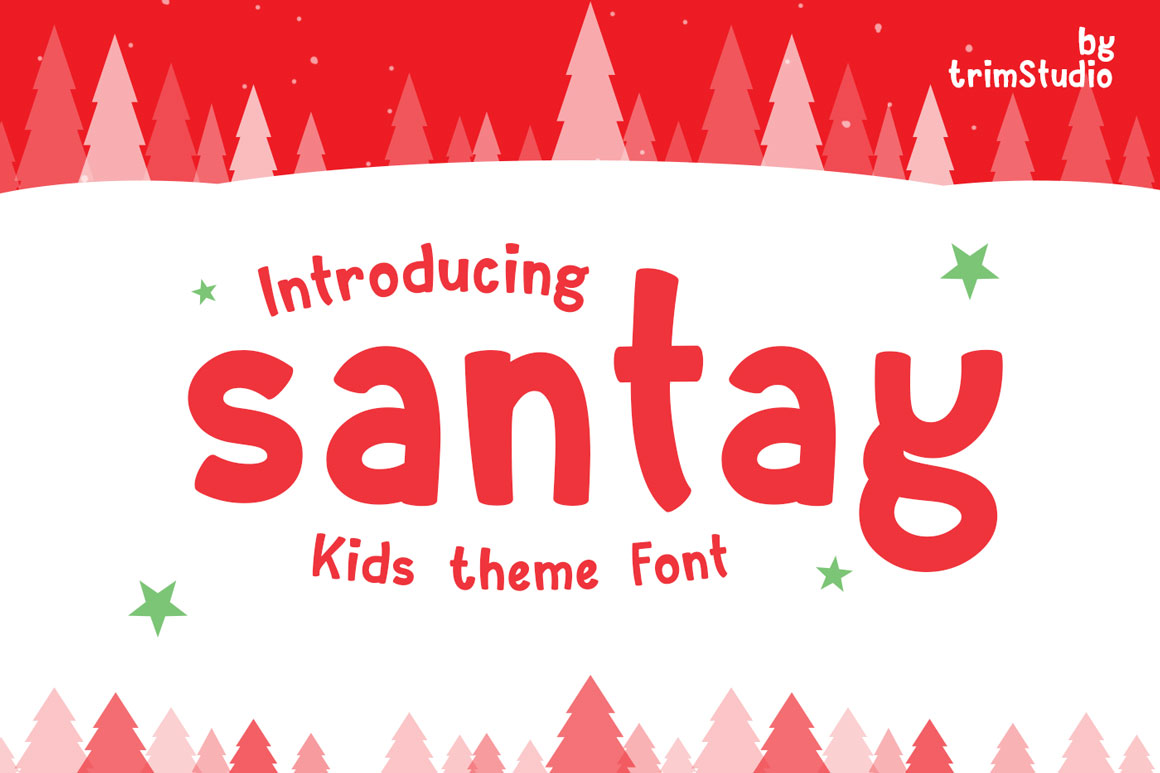 Santay - Bold Christmas Font example image 1