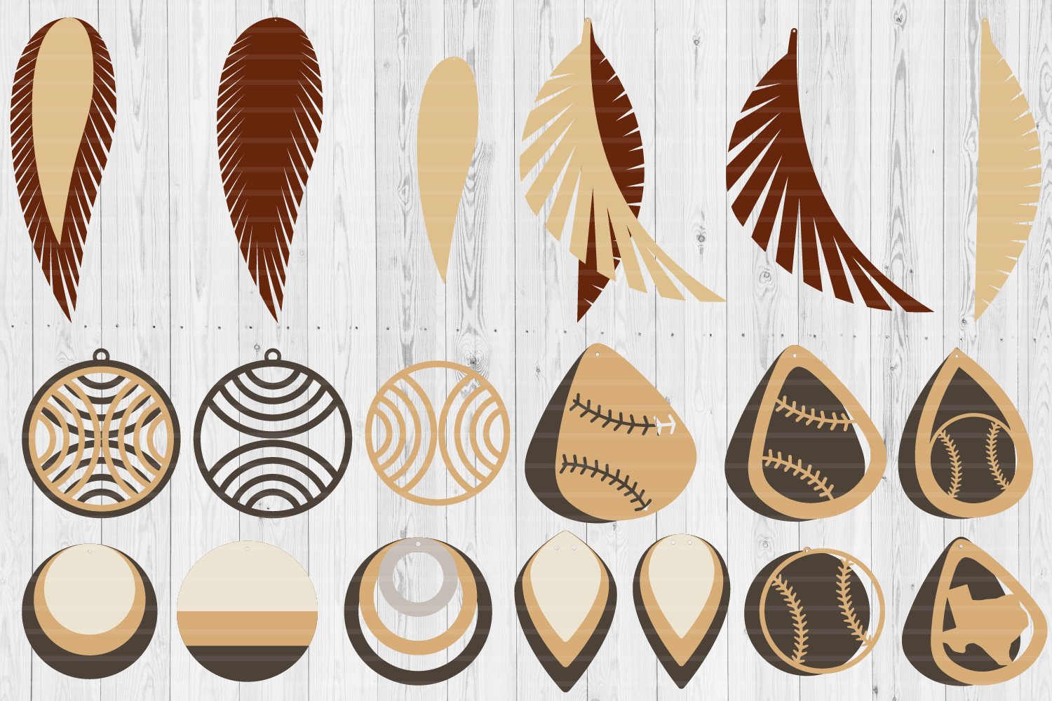 Earrings Templates Humble Bundle | SVG Cut Files | example image 7