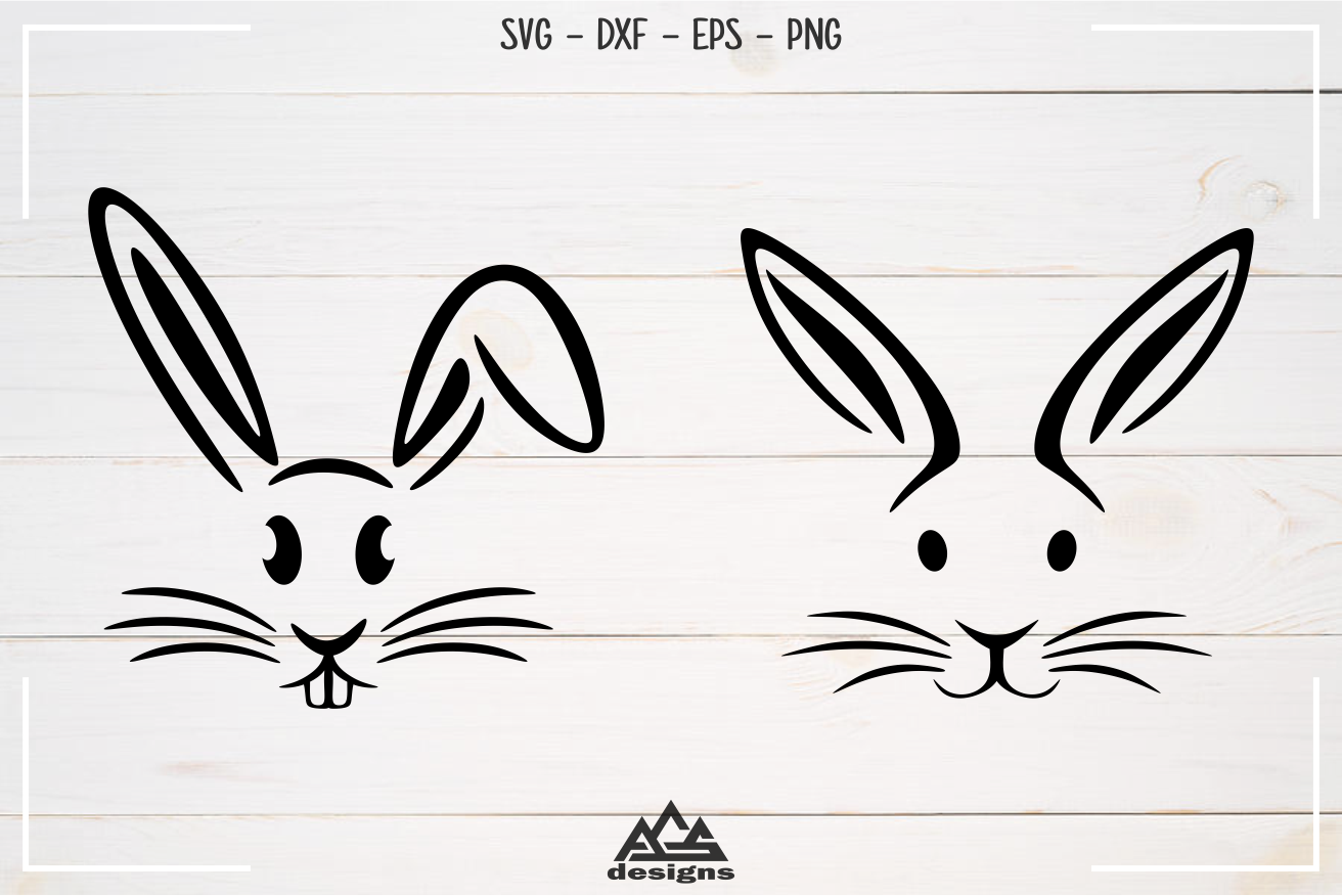 Rabbit Easter Bunny Svg Design example image 3