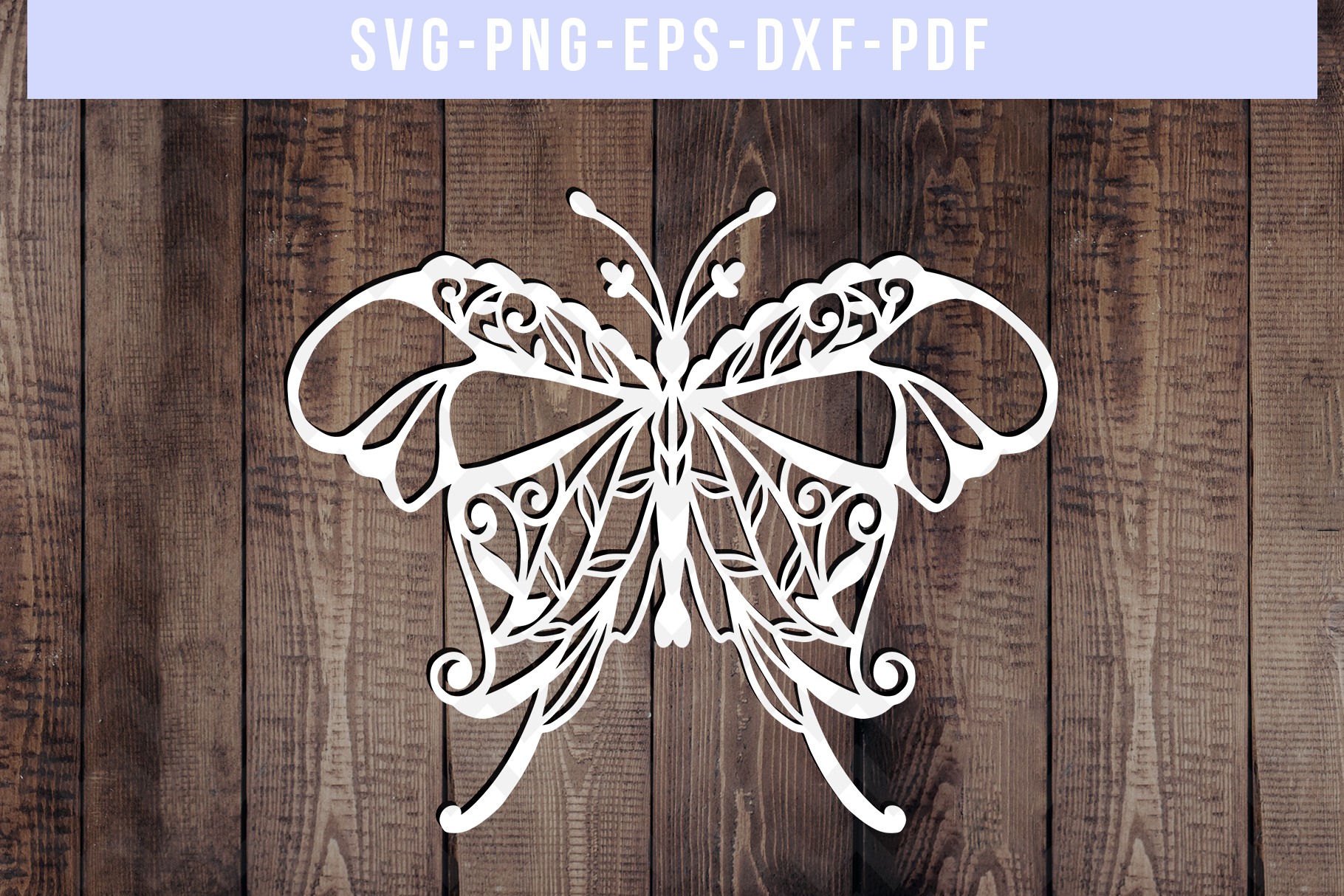 Bundle Of 9 Butterfly Papercut Templates, Paper Art DXF PDF example image 3