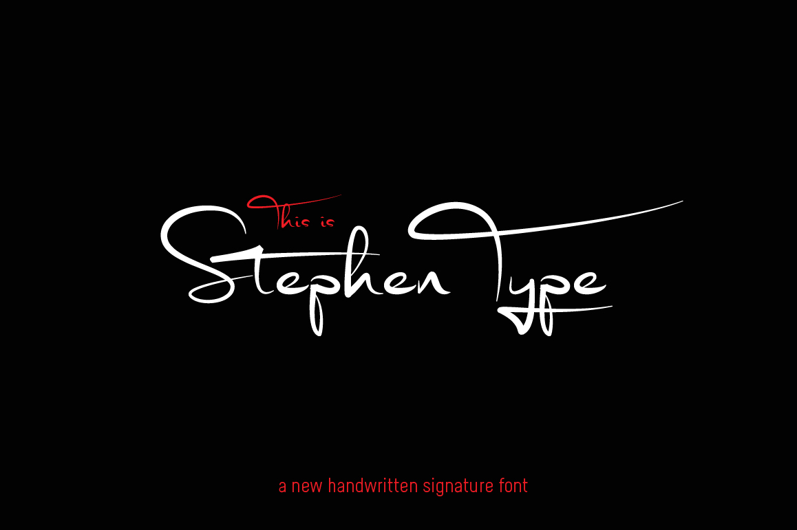 Stephen Type - Signature Font example image 1