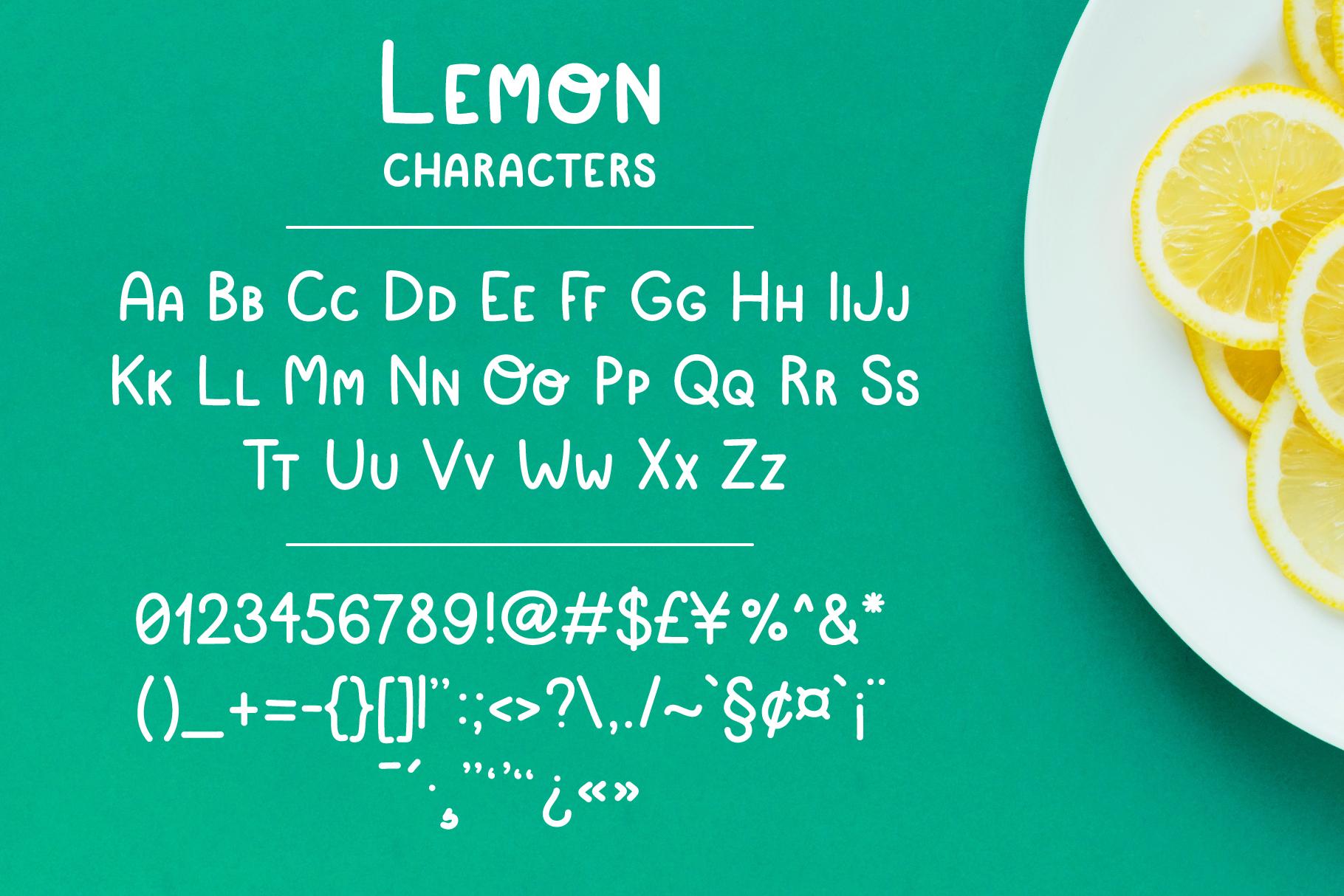 Simple playful font - Lemon example image 2