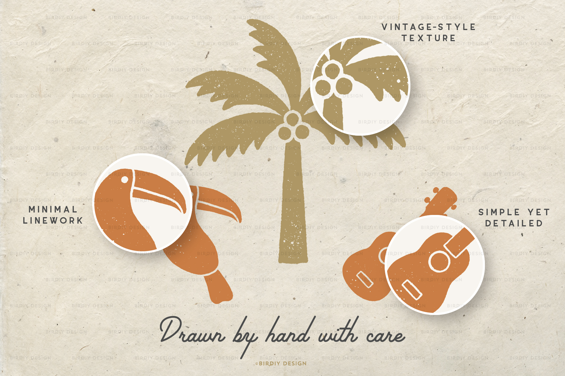 Summer Icons 2 Hand Drawn Graphics Set example image 7