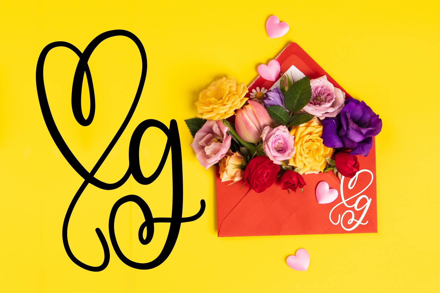 CLN - Monohearts - A Monogram Heart Font with Extra Doodles example image 6