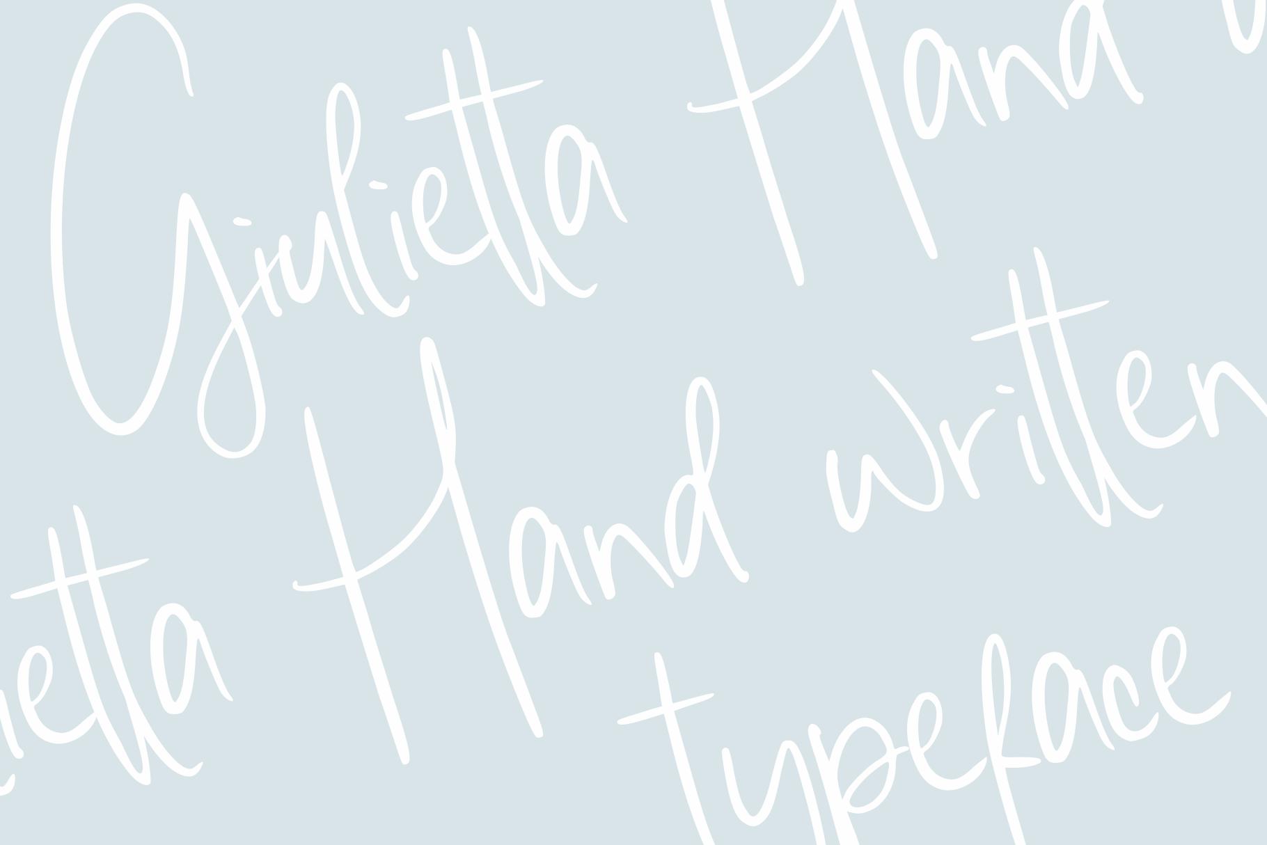 giulietta \\ handwriting example image 2