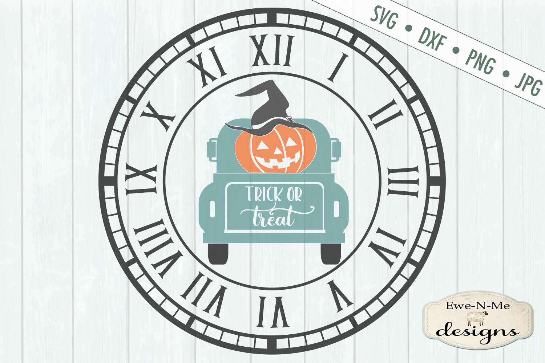 Clock SVG - Halloween Clock - Jack O Lantern Truck - SVG DXF example image 2
