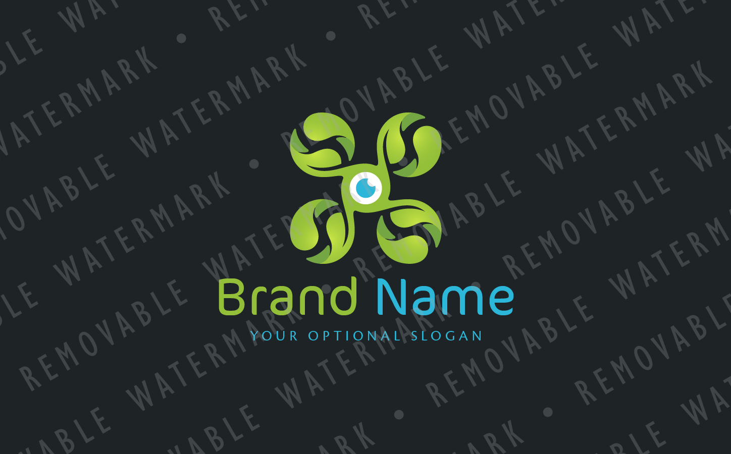 Green Drone Logo example image 3