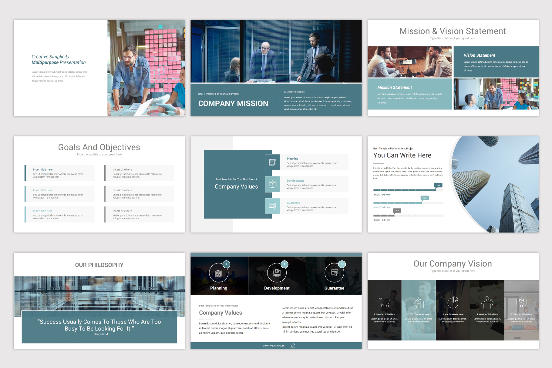 Simplicity PowerPoint Template example image 8