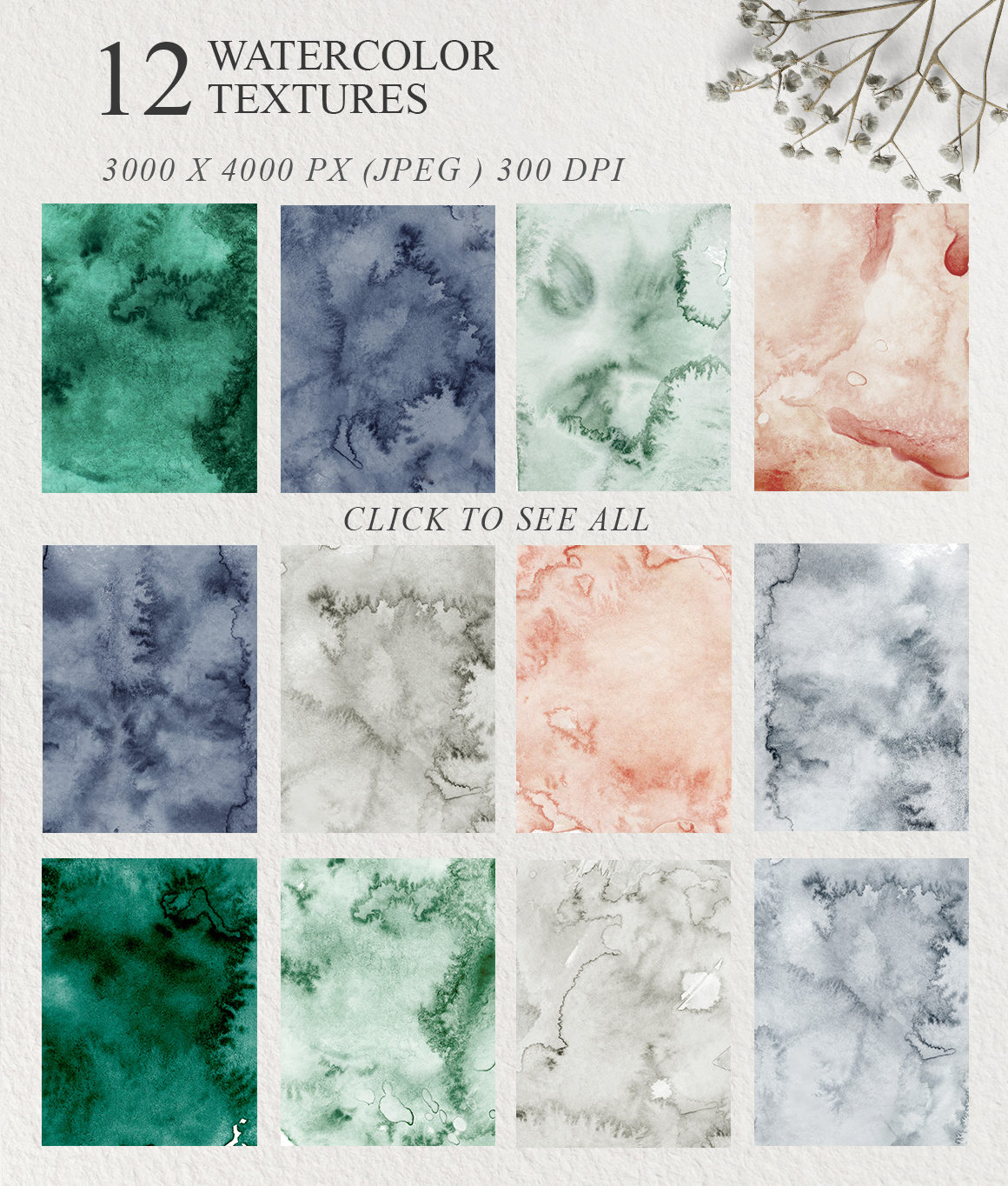 Elegant Watercolor Backgrounds example image 9