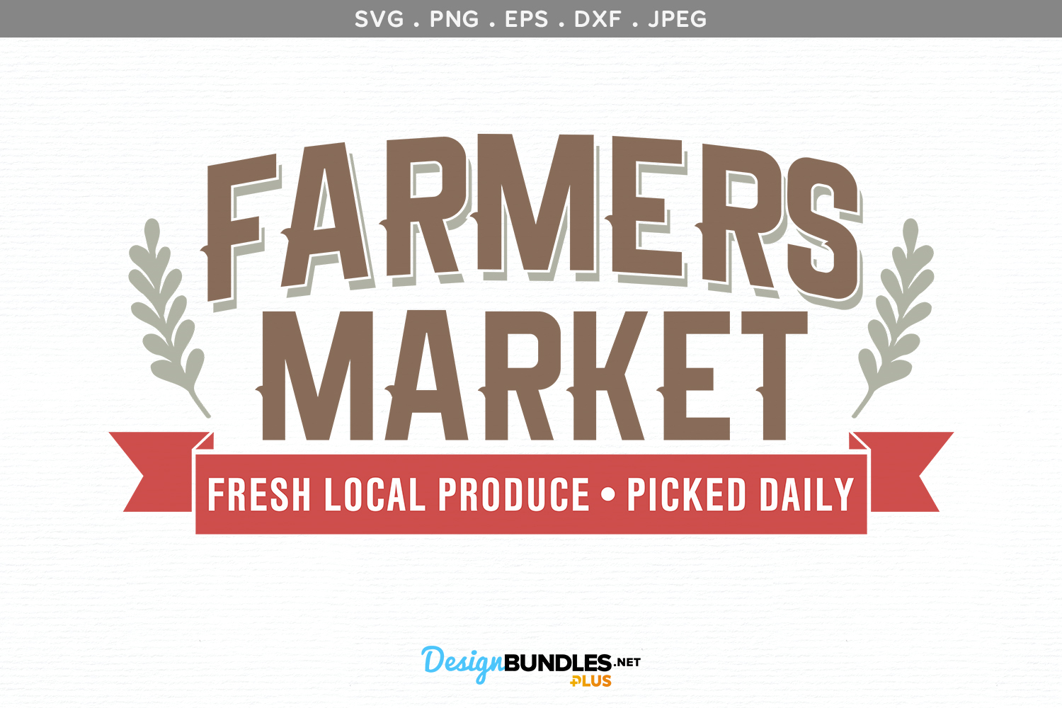 Farmers Market Fresh Local Produce - svg & printable example image 2